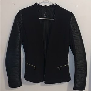 H&M Blazer with Faux Leather Lining